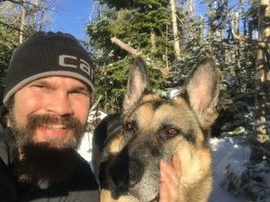My doggy and I doing a summit selfie