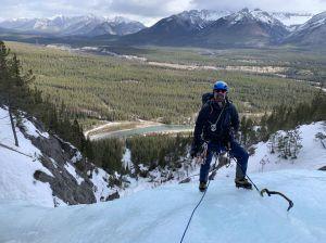 Ice climbing in Banff, Alberta, Canada
