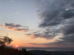Sunset over Poke-O-Moonshine Mountain