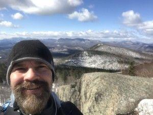 Me on top of Poke-O-Moonshine Mountain, Adirondacks