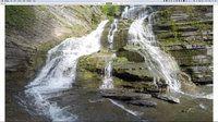 Climbing the falls at Robert Treman State Park