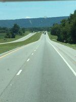 Driving into the mountain pass Tennessee into Georgia 8.8.15