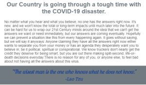 COVID-19 Thoughts