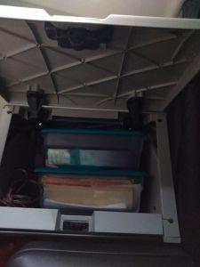 2019 Cascadia storage