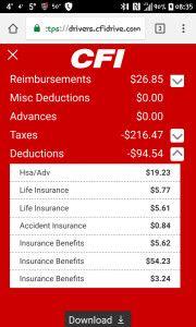 My insurance costs per week.