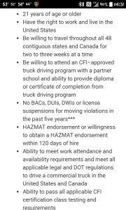 CFI Student Qualifications