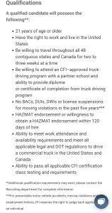 CFI requirements