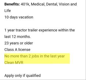 Need experience