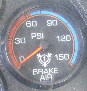 30 psi interval air pressure gauge