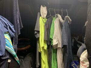 drying laundry