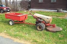 with trailer and mower