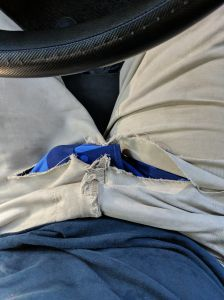 The camo blue made it less embarrassing at least