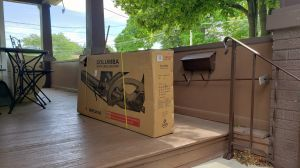 Columba folding bike in box!