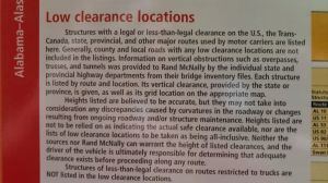 Rand McNally on Low Clearances
