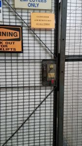 Look closely at the small sign above the lock.