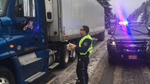 Oregon State Police Assisting Stranded Drivers