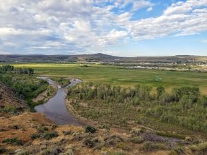 Bear River from trail in Wyoming State Park Evanston