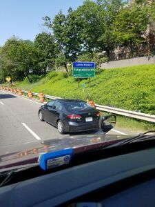 Leaving Brooklyn sign