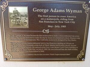 George Adams Wyman plague