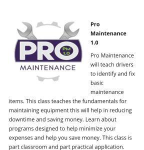 Prime Maintenance Class