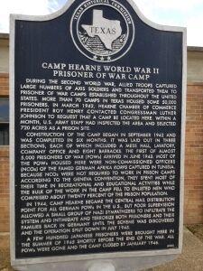 Camp Hearne Plaque