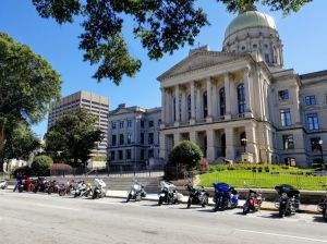 Bikes in front of Georgia State Capitol
