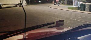 Passenger hood mirror.