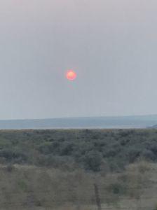 Sun through California wildfires