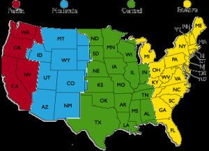 Time zone chart for trip planning