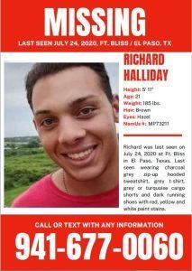 MISSING SOLDIER - RICHARD HALLIDAY